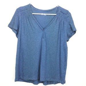 🆕Blue Susina v-neck t-shirt                 N11